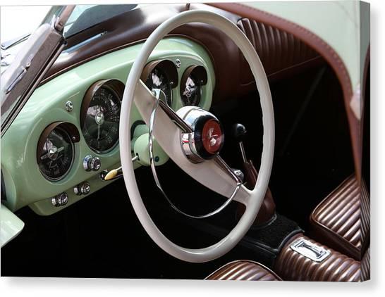 Vintage Kaiser Darrin Automobile Interior Canvas Print