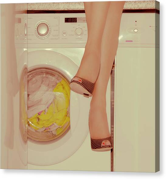 Vintage Laundry Canvas Print by © Angie Ravelo Photography