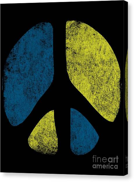 Vintage Peace Sign Canvas Print