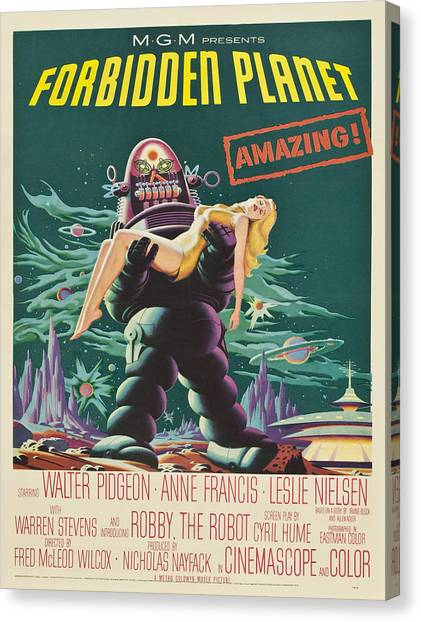 Forbidden Planet Canvas Print - Vintage Poster - Forbidden Planet by Vintage Images