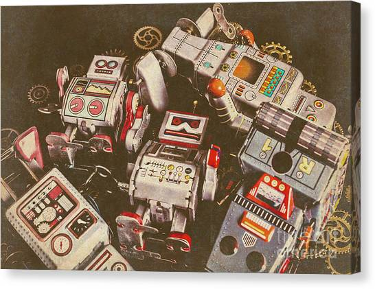 Droid Canvas Print - Vintage Robotronics by Jorgo Photography - Wall Art Gallery