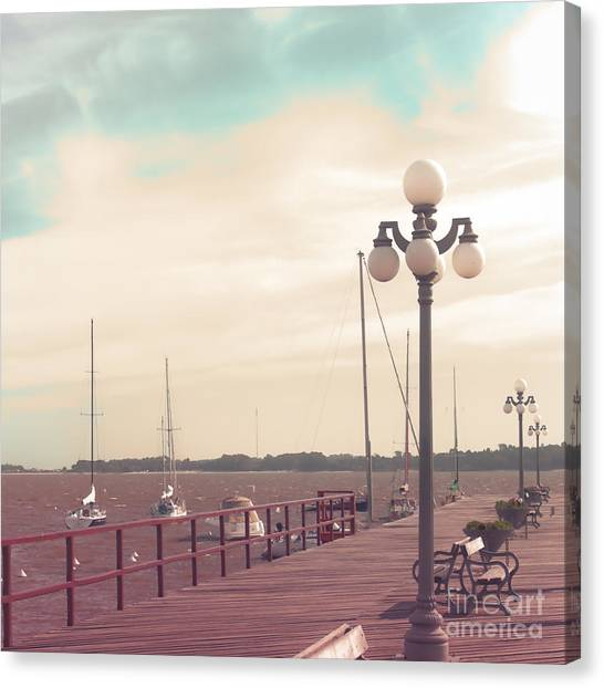 Vintage Sea Port Canvas Print by Andrekart Photography