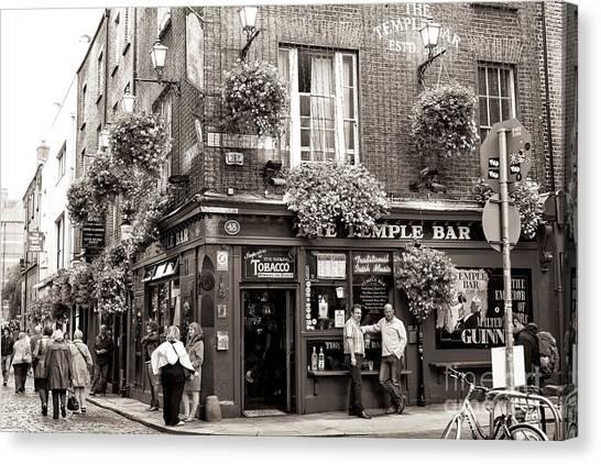 Vintage Temple Bar Dublin Canvas Print