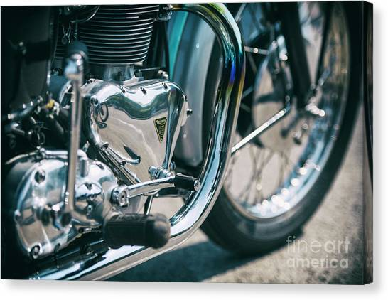 Motoring Canvas Print - Vintage Triumph Abstract by Tim Gainey