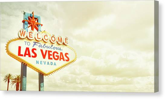 Vintage Welcome To Fabulous Las Vegas Canvas Print