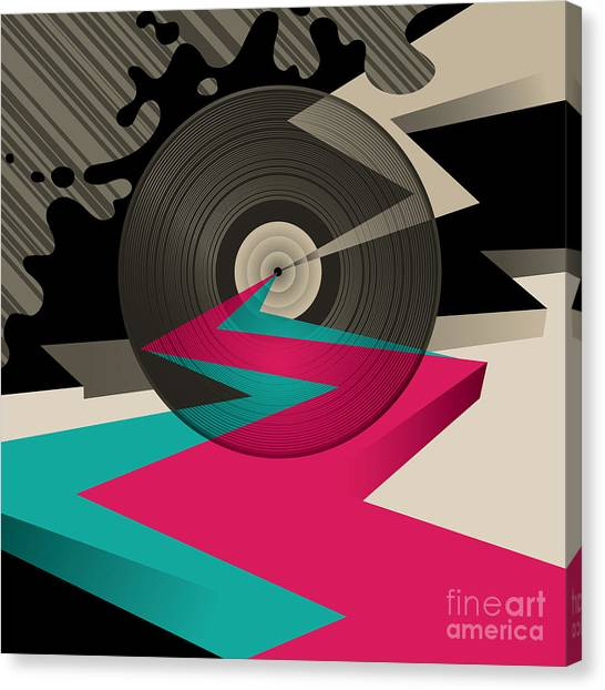 Flash Canvas Print - Vinyl Record by Radoman Durkovic