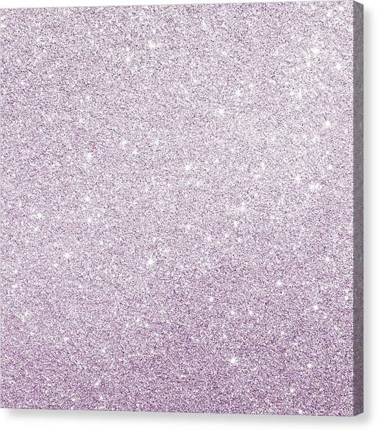 Canvas Print featuring the photograph Violet Glitter by Top Wallpapers