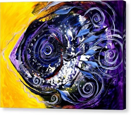 Violet Tri Fish Canvas Print