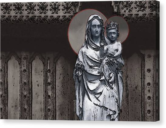 Messiah Canvas Print - Virgin And Child by Joseph Oland
