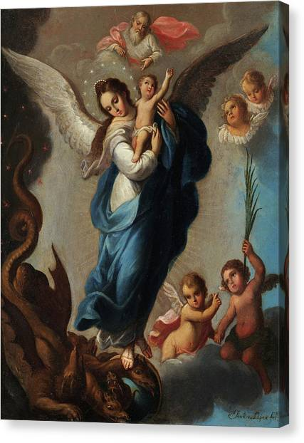 God Of War Canvas Print - Virgin Of The Apocalypse by Andres Lopez
