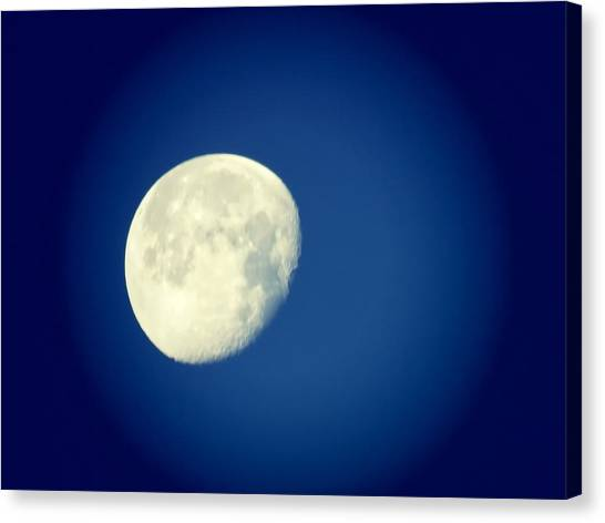Canvas Print featuring the photograph Virgo Moon Three Quarters by Judy Kennedy