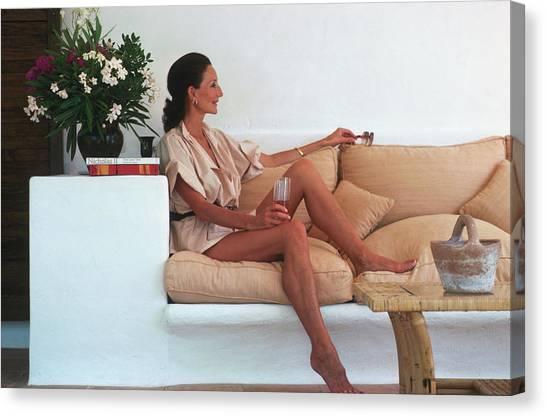 Viscountess In Ibiza Canvas Print by Slim Aarons