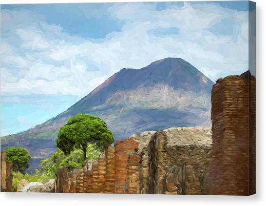Visions Of Pompeii Canvas Print by Tony Grider