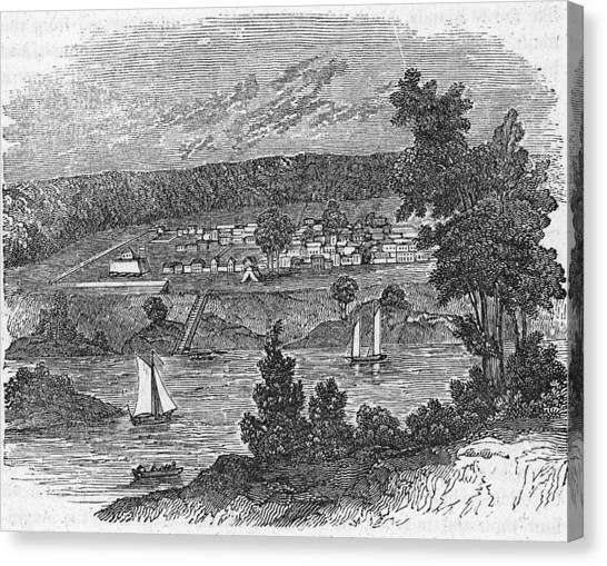 Vista Of Colonial Savannah, Georgia Canvas Print by Kean Collection