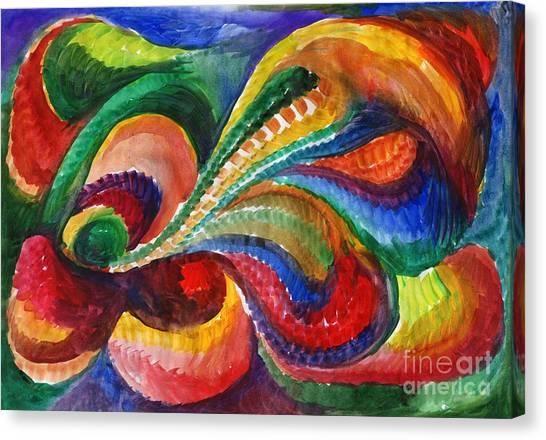 Vivid Abstract Watercolor Canvas Print