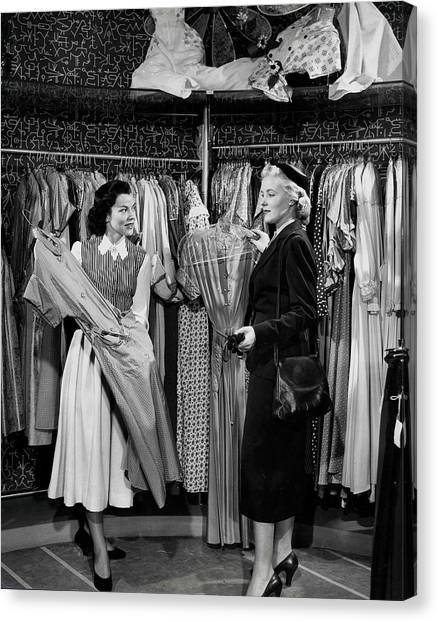 Clothing Store Canvas Print - Volume 2. Page 48. Picture 7.circa by Popperfoto