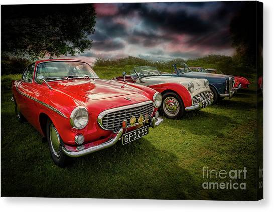 Canvas Print - Volvo P1800 Classic Car by Adrian Evans