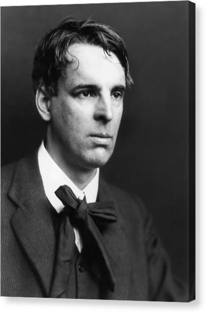 W B Yeats Canvas Print by George C. Beresford