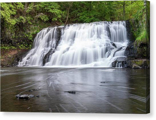 Wadsworth Falls In Middletown, Connecticut U.s.a.  Canvas Print