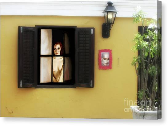 Waiting At The Window  Canvas Print by ManDig Studios