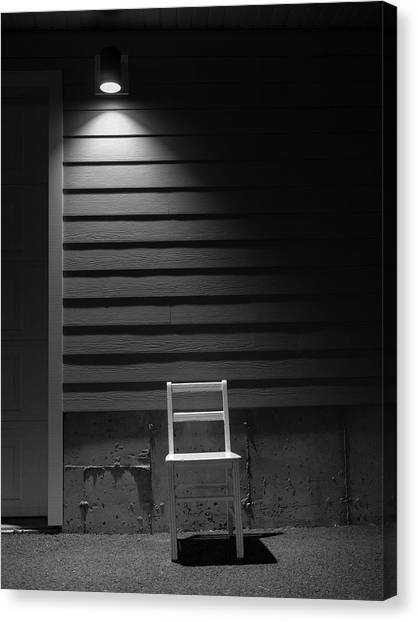 Canvas Print featuring the photograph Waiting / The Chair Project by Dutch Bieber