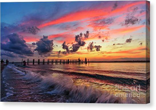 Wake Ripples Canvas Print