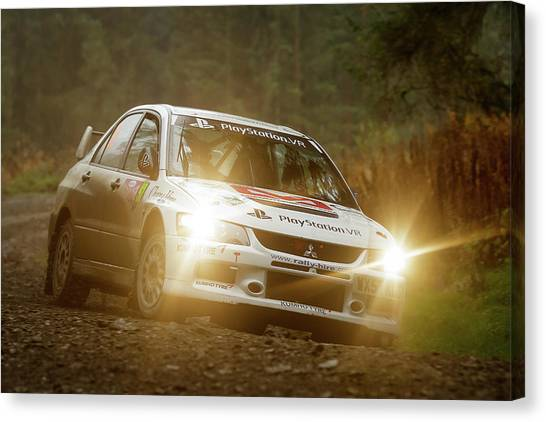 Canvas Print featuring the photograph Wales Rally Gb 2016 - 92 Tony Jardine, Gbr by Elliott Coleman