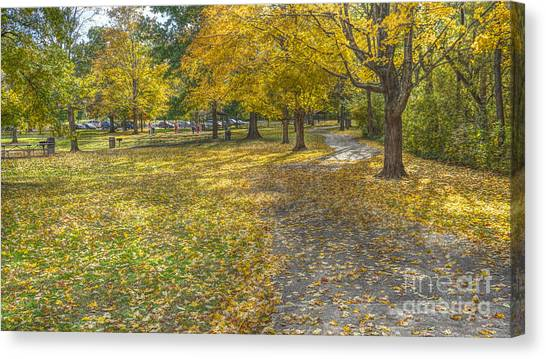 Walk In The Park @ Sharon Woods Canvas Print