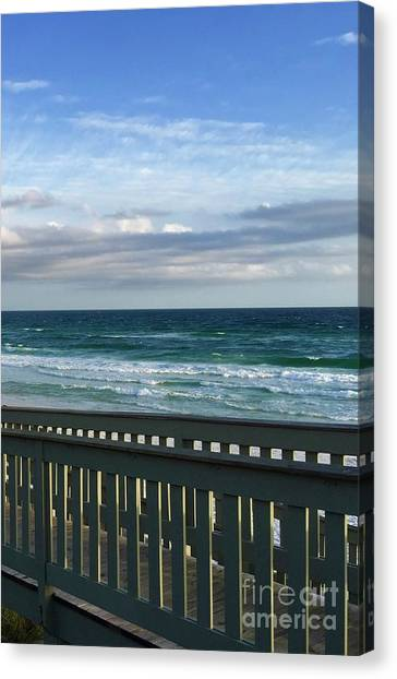 Canvas Print - Walk With Me To The Beach by Megan Cohen