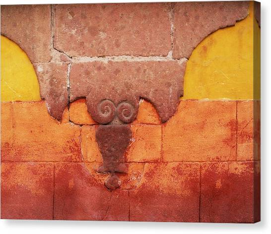 Wall In San Miguel, Mexico Canvas Print by Billnoll