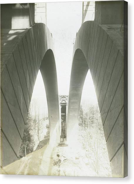 Walnut Lane Bridge Under Construction Canvas Print