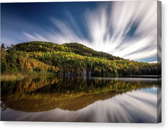 Canvas Print featuring the photograph Wapizagonke Lake Reflection by Pierre Leclerc Photography