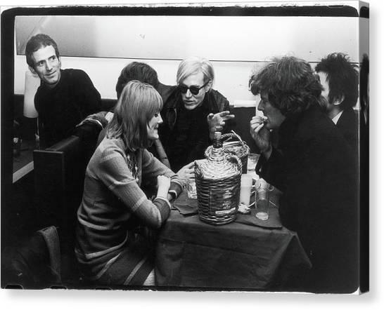 Warhol & Co. At Maxs Kansas City Canvas Print by Fred W. Mcdarrah