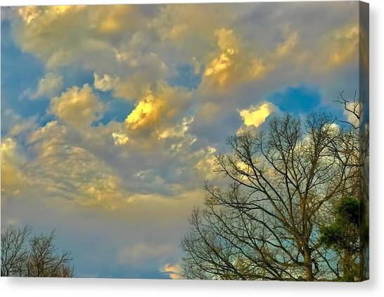 Warm And Cool Sky Canvas Print