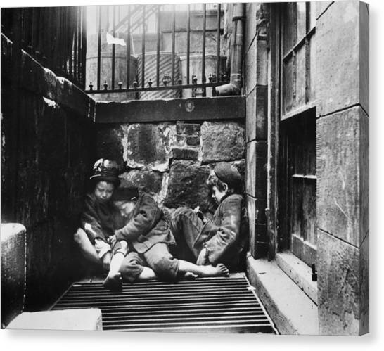 Warm Friends Canvas Print by Jacob A. Riis