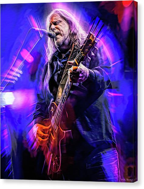 The Allman Brothers Canvas Print - Warren Haynes, The Allman Brothers by Mal Bray