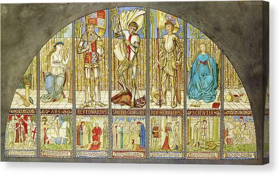 God Of War Canvas Print - Wars Of The Roses - Digital Remastered Edition by Edward Burne-Jones
