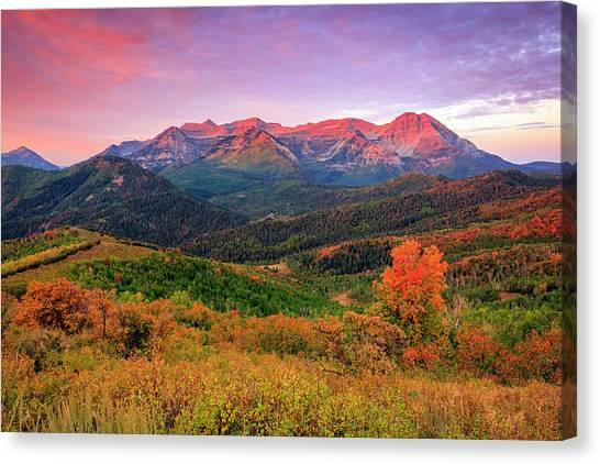 Wasatch Back Autumn Morning Canvas Print
