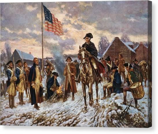 History Canvas Print - Washington At Valley Forge by War Is Hell Store