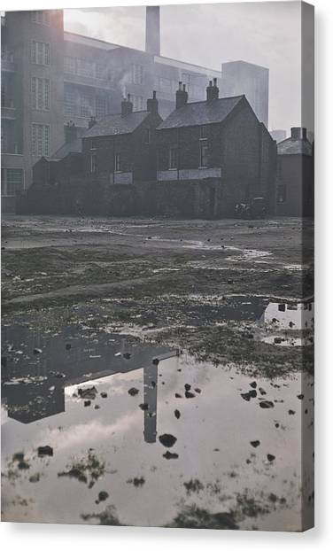 Waste Ground In Belfast Canvas Print by Bert Hardy