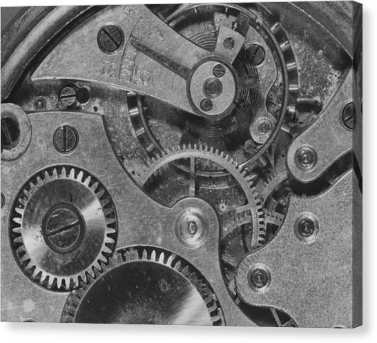 Watch Cogs Canvas Print by Fox Photos