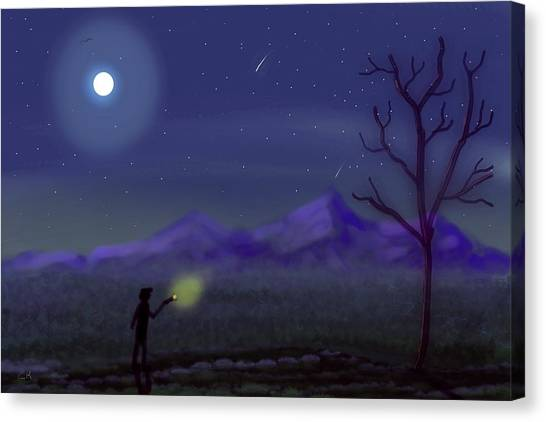 Watching Shooting Stars Canvas Print