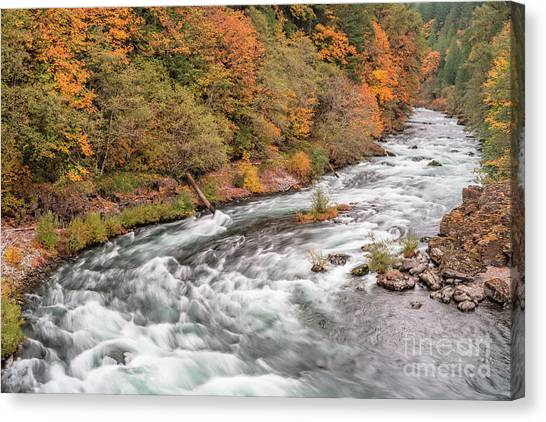 Canvas Print featuring the photograph Water Colors by Craig Leaper