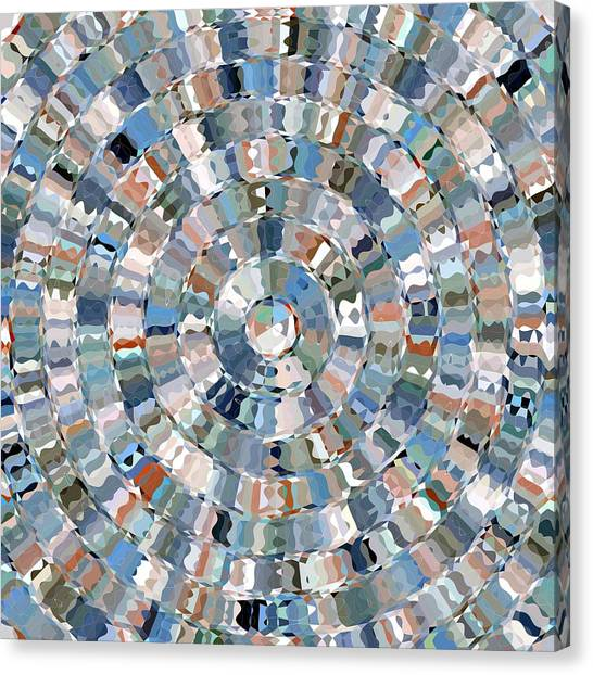 Water Mosaic Canvas Print
