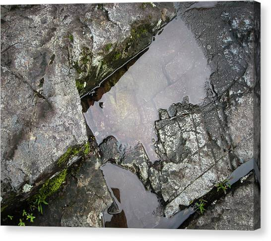 Canvas Print featuring the photograph Water On The Rocks 2 by Juan Contreras