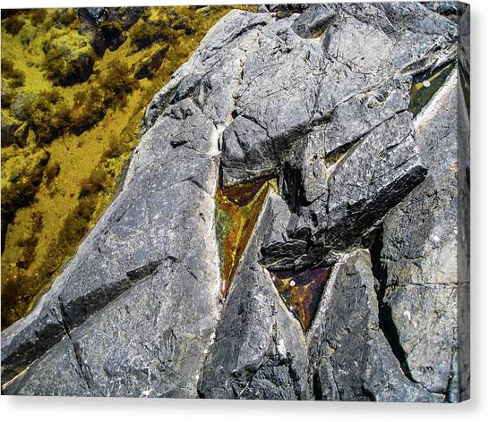 Canvas Print featuring the photograph Water On The Rocks 8 by Juan Contreras