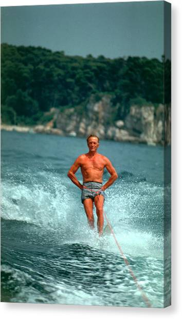 Water-skiing Star Canvas Print