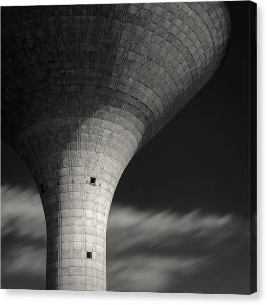 Utility Canvas Print - Water Tower by Dave Bowman