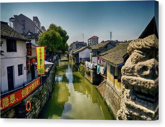 Water Village Canvas Print