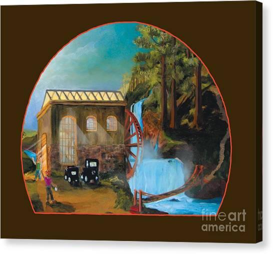 Water Wheel Overlay Canvas Print